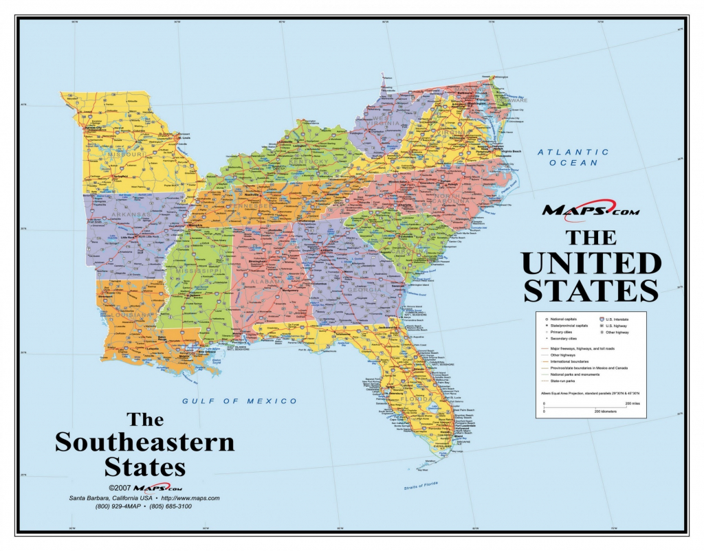 Printable Map Of The Southeast United States