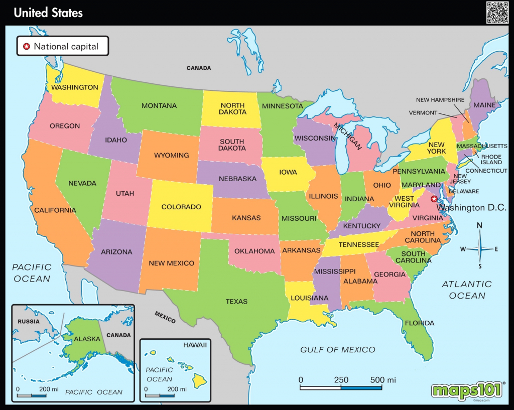 Printable Map Of Usa Showing States