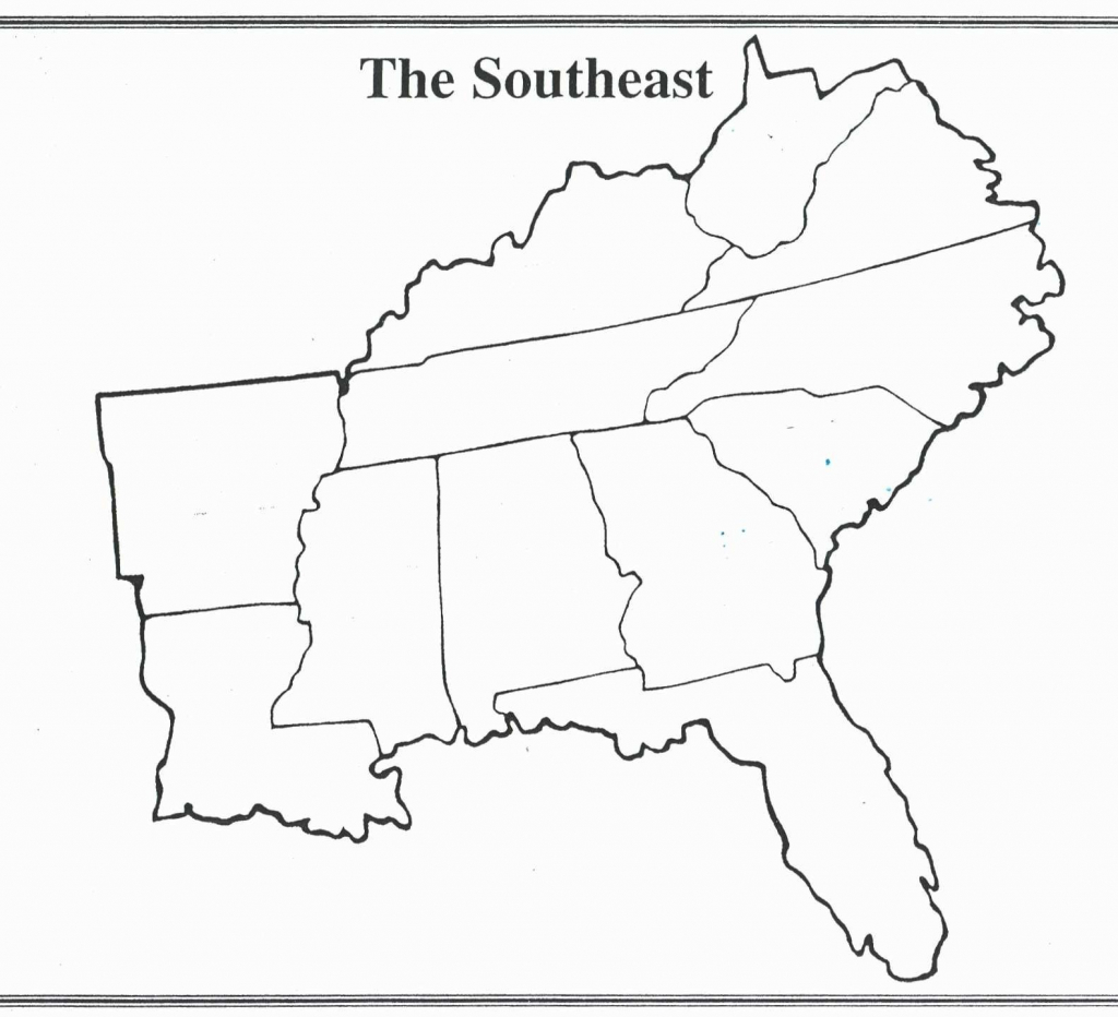 Blank Map Of Southeast Us Interactive Southeastern United At States