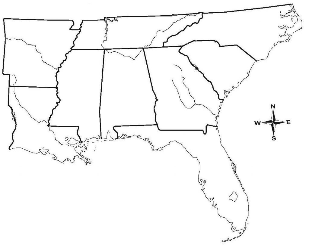 Map Of Southeast Us States