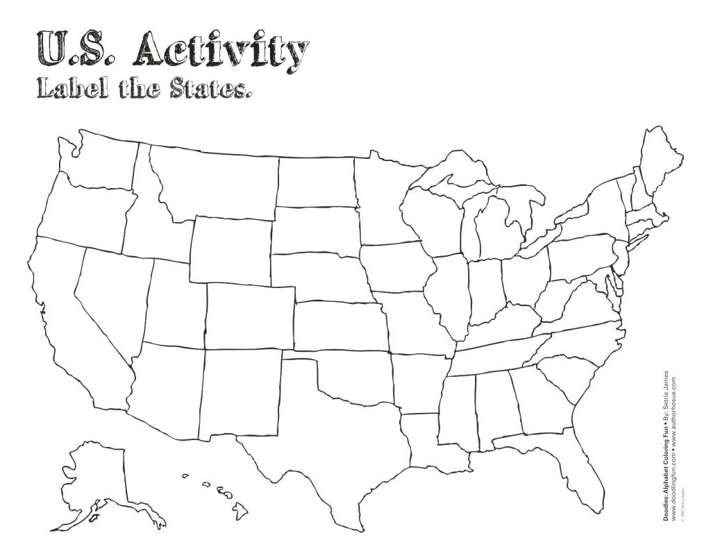 United States Map Outline Labeled Save Label Worksheet
