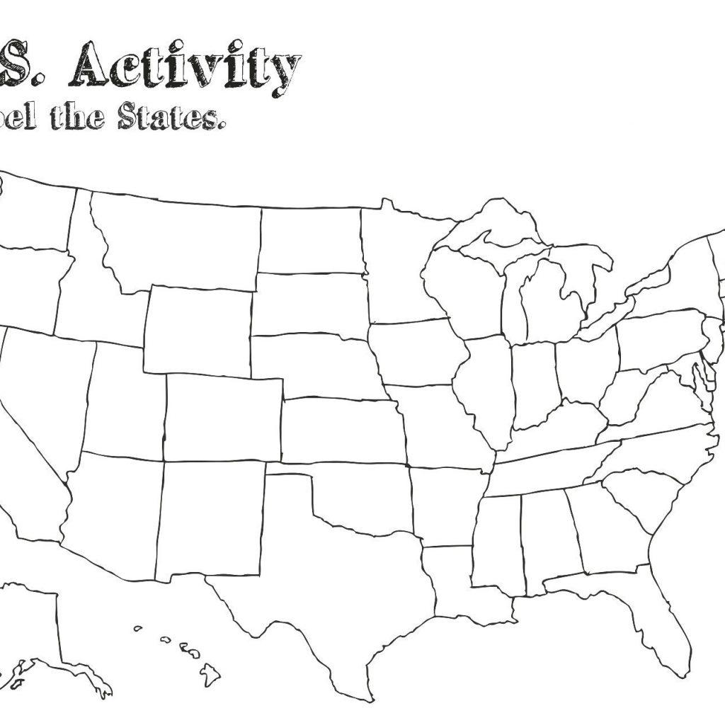 State Map Printable Worksheet