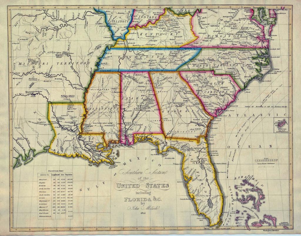 Southeastern United States Atlas Wall Map