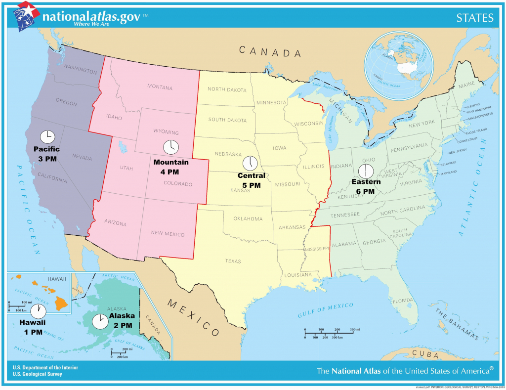 Us Time Zone Map Missouri New Printable United States Map