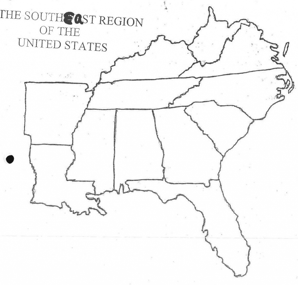 Printable Blank Map Of Eastern United States