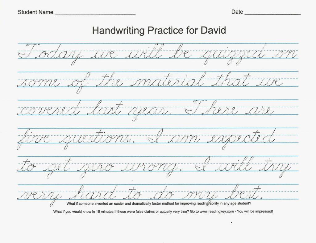 54 Unique Of Free Printable Cursive Handwriting Worksheets Pic