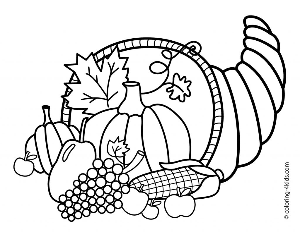 Coloring Ideas Coloring Pages Of Thanksgiving Print