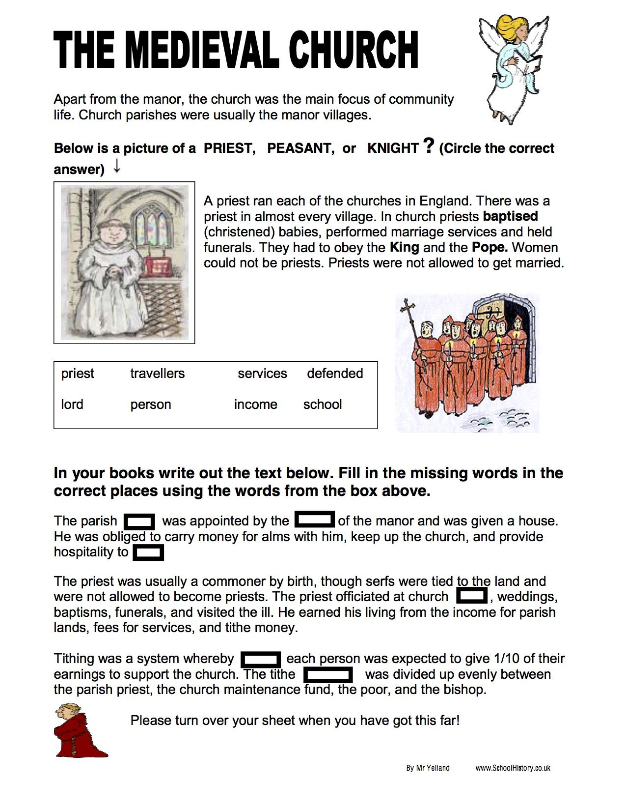 Free History Worksheets