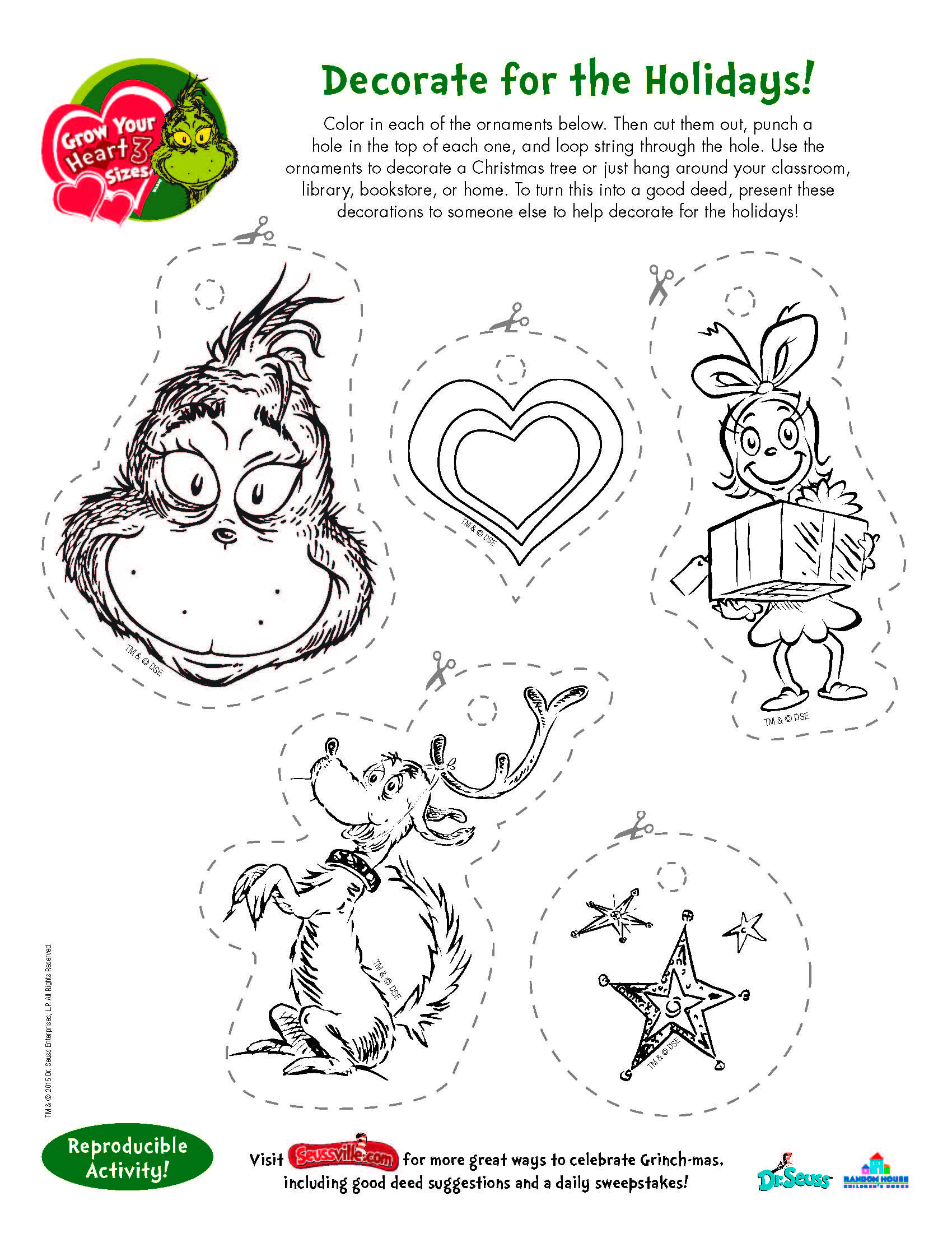 Free Printable Grinch Worksheets