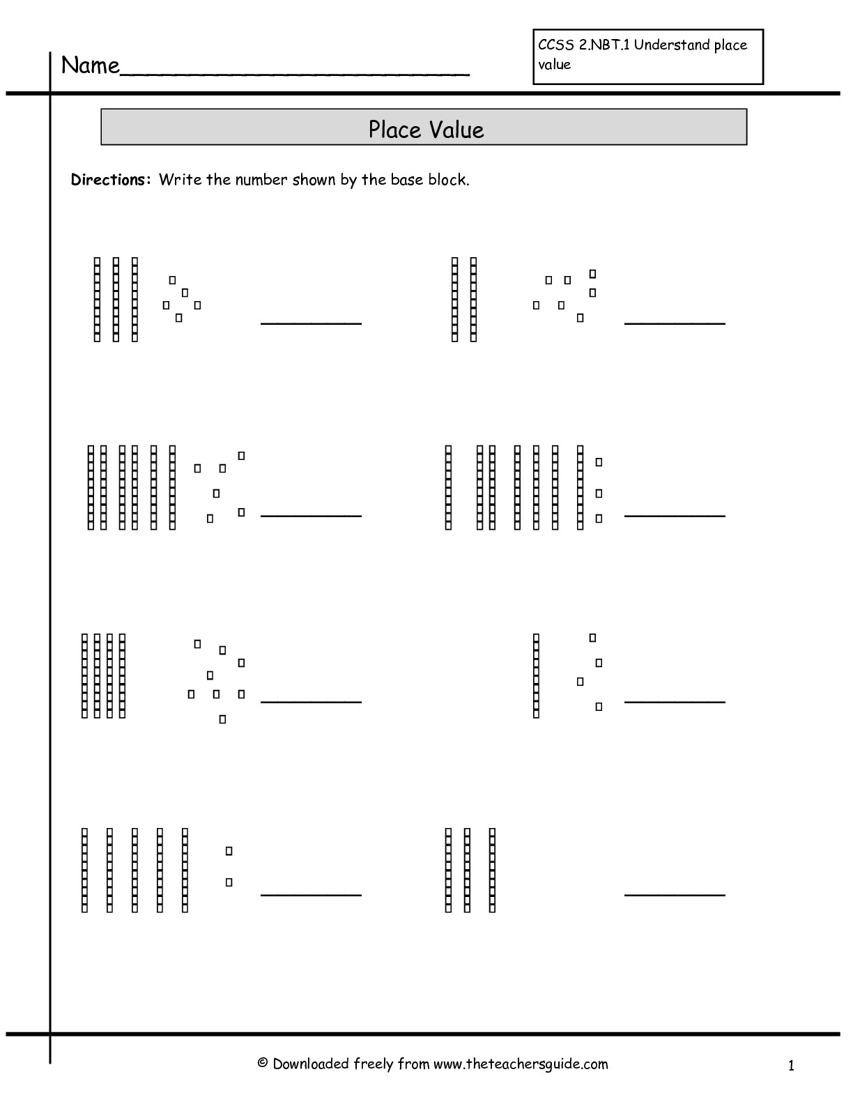 Second Grade Place Value Worksheets