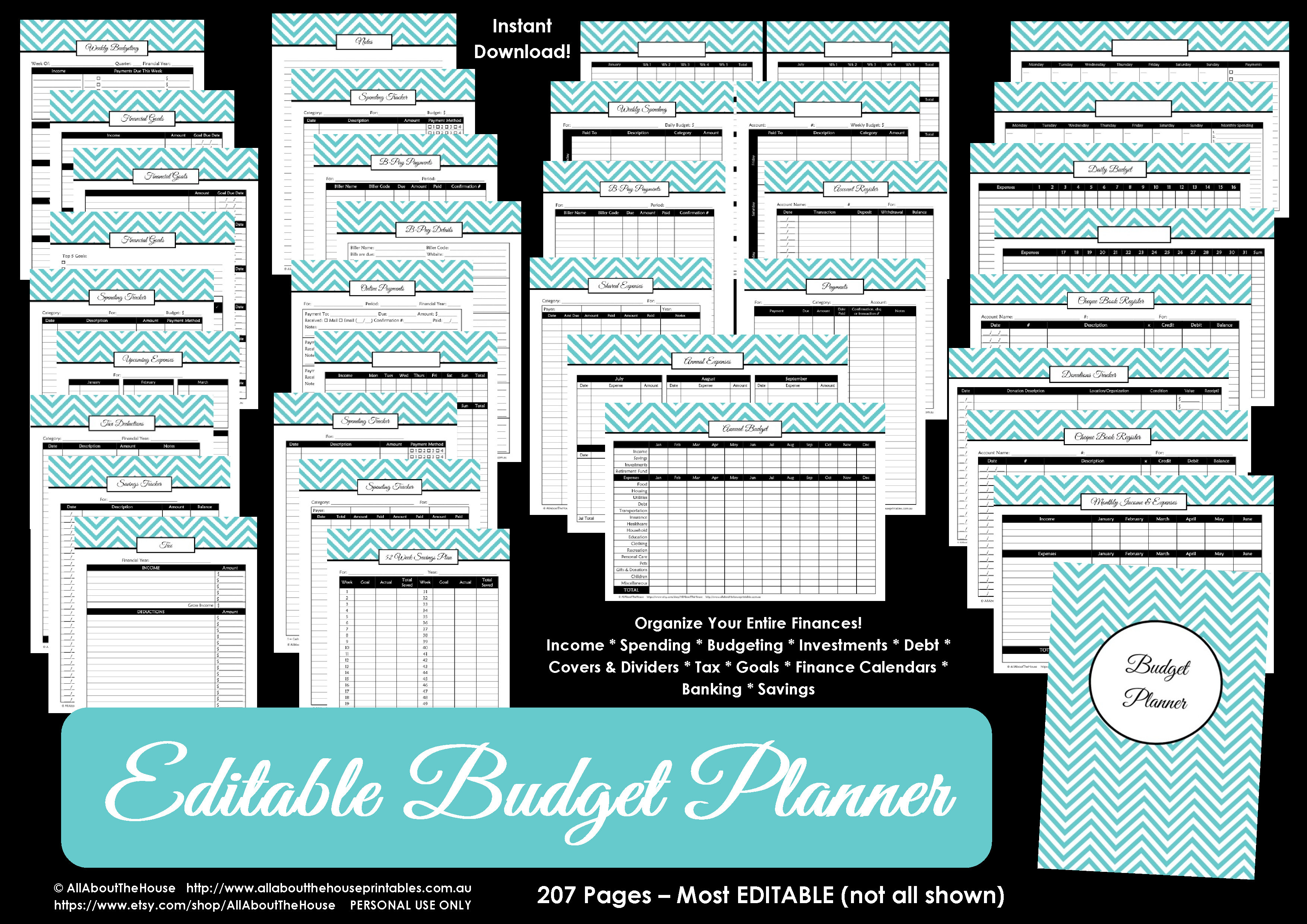 Free Printable Budgeting Binder 15 Pages