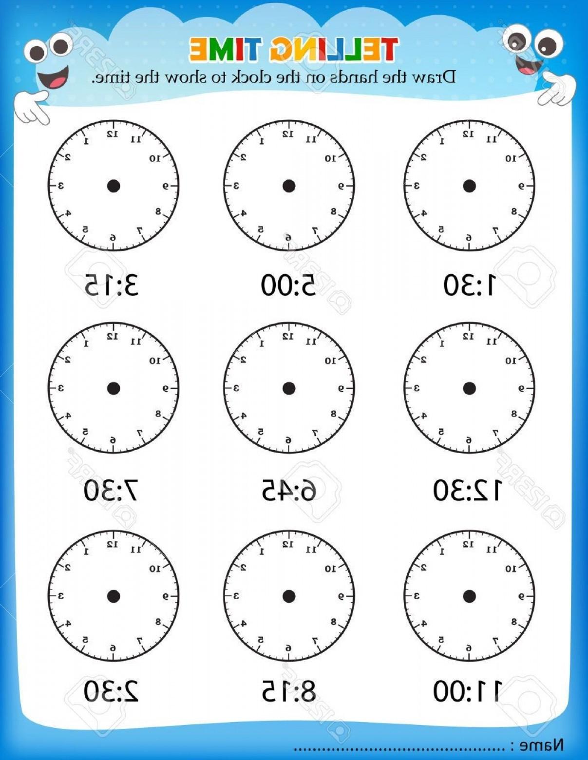 Kindergarten Clock Worksheet Printables