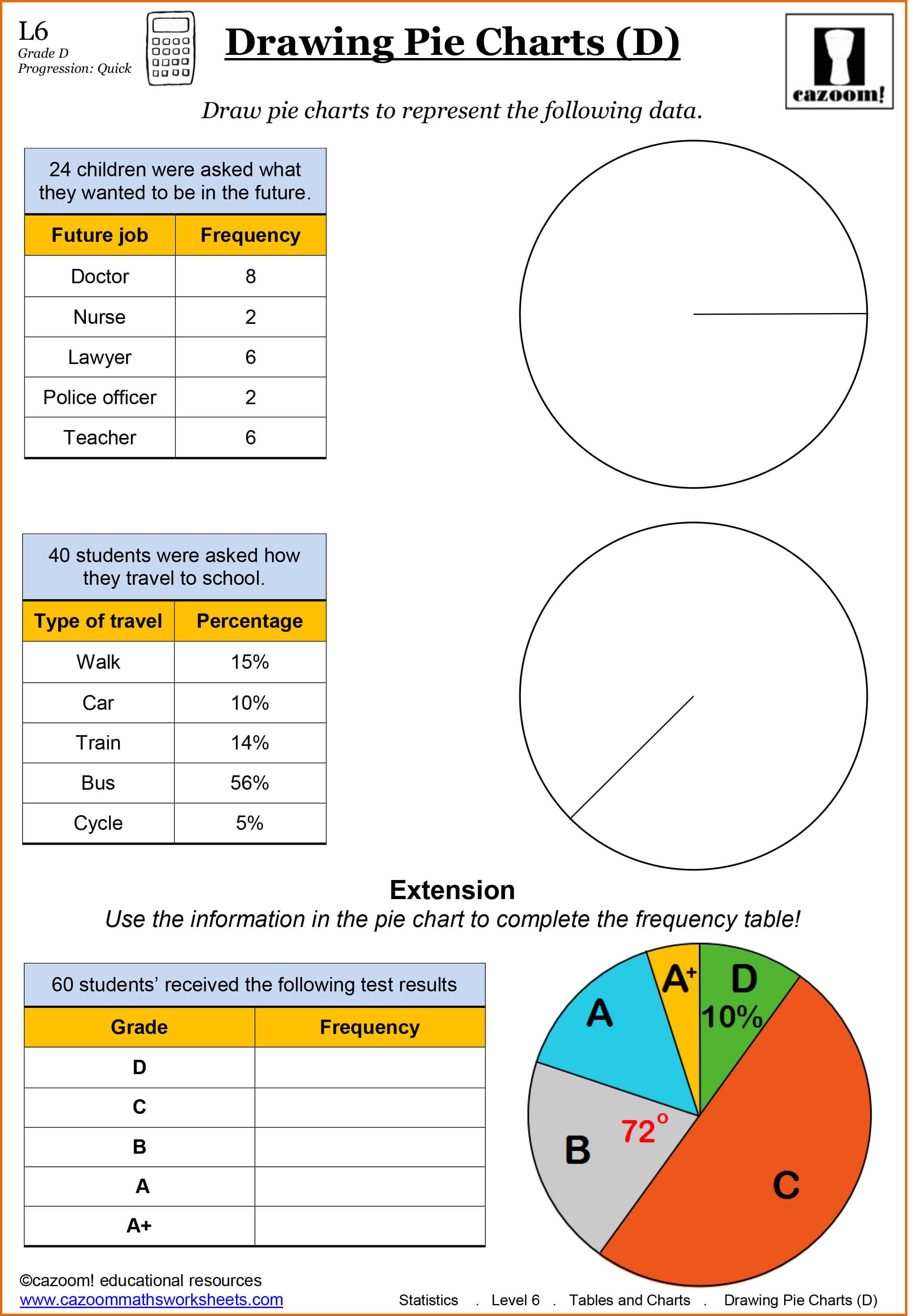 Free Printable Pie Graph Worksheets