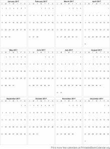 Free Printable Calendar 2017