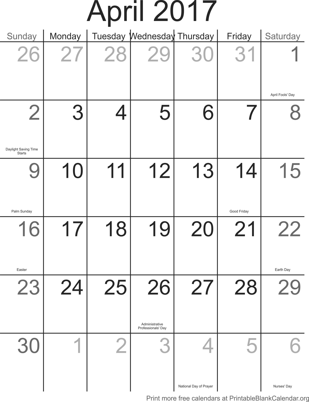April 2017 printable calendar template printable blank calendar april 2017 printable calendar template maxwellsz
