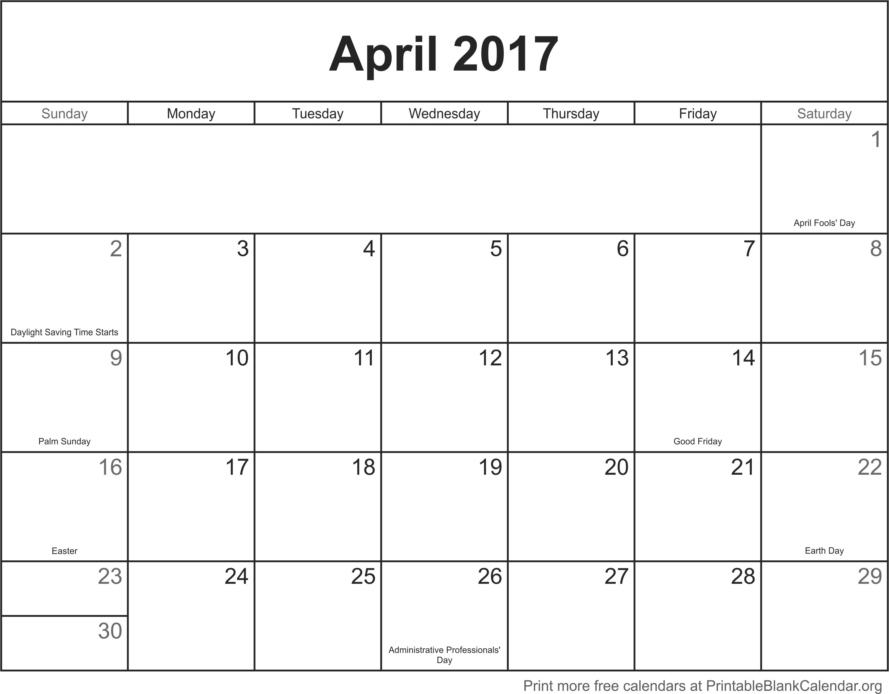 free calendar april 2017 printable blank calendar org .