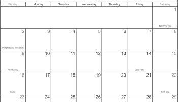 free printable blank calendar 2017