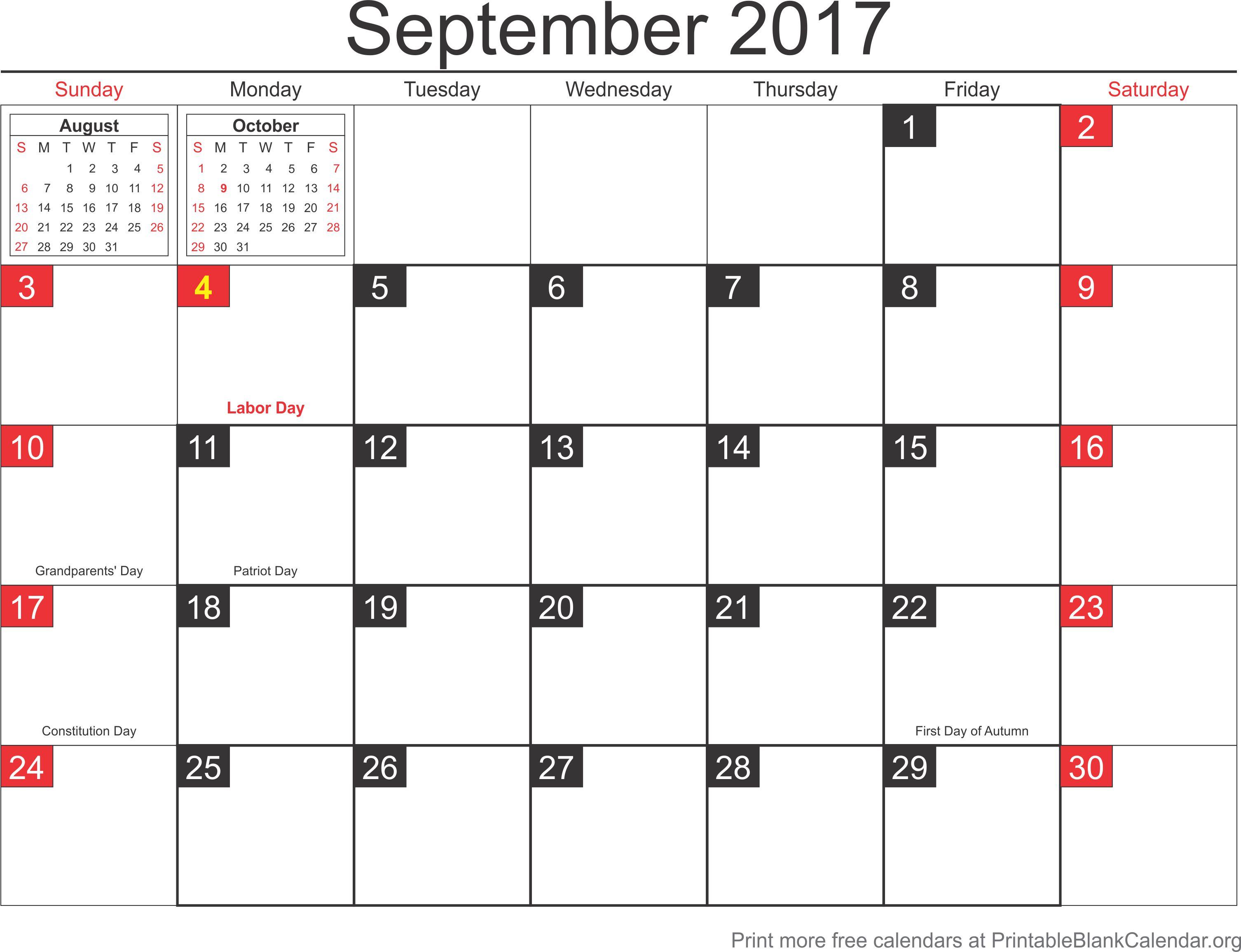 printable calendar september 2017 printable blank calendar org