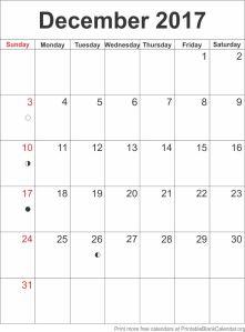 calendar template December 2017