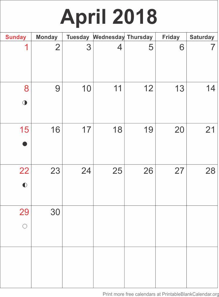 April 2018 blank calendar template printable blank calendar april 2018 blank calendar template maxwellsz