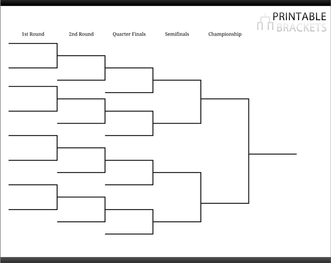 Pool Tournament Brackets