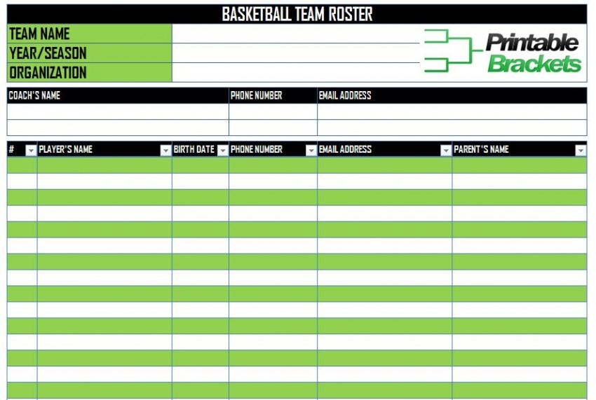 Blank Roster Template blank basketball stat sheet new calendar – Sample Baseball Roster Template