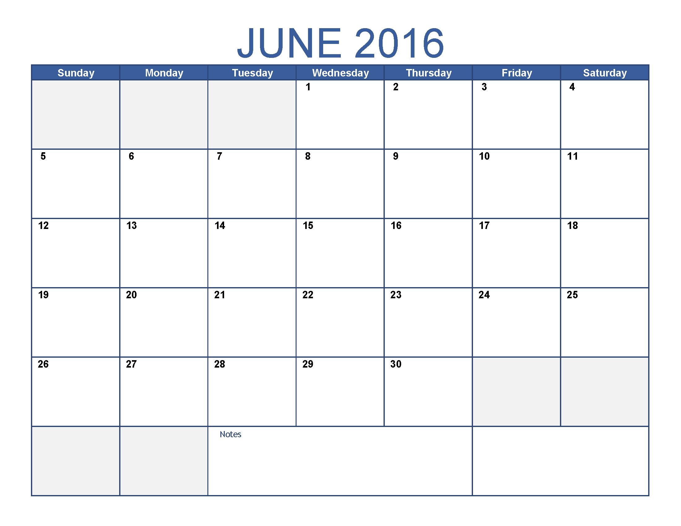Printable Reusable Monthly Calendar : June printable calendar blank templates