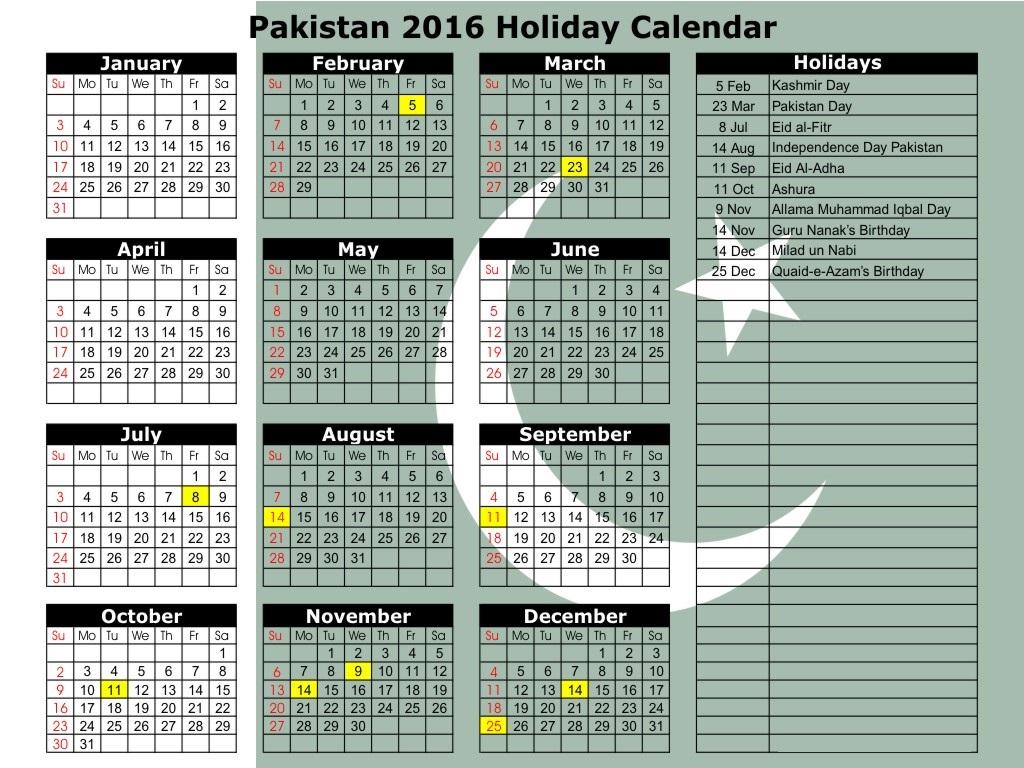 Ramadan 2016 Calendar Pakistan