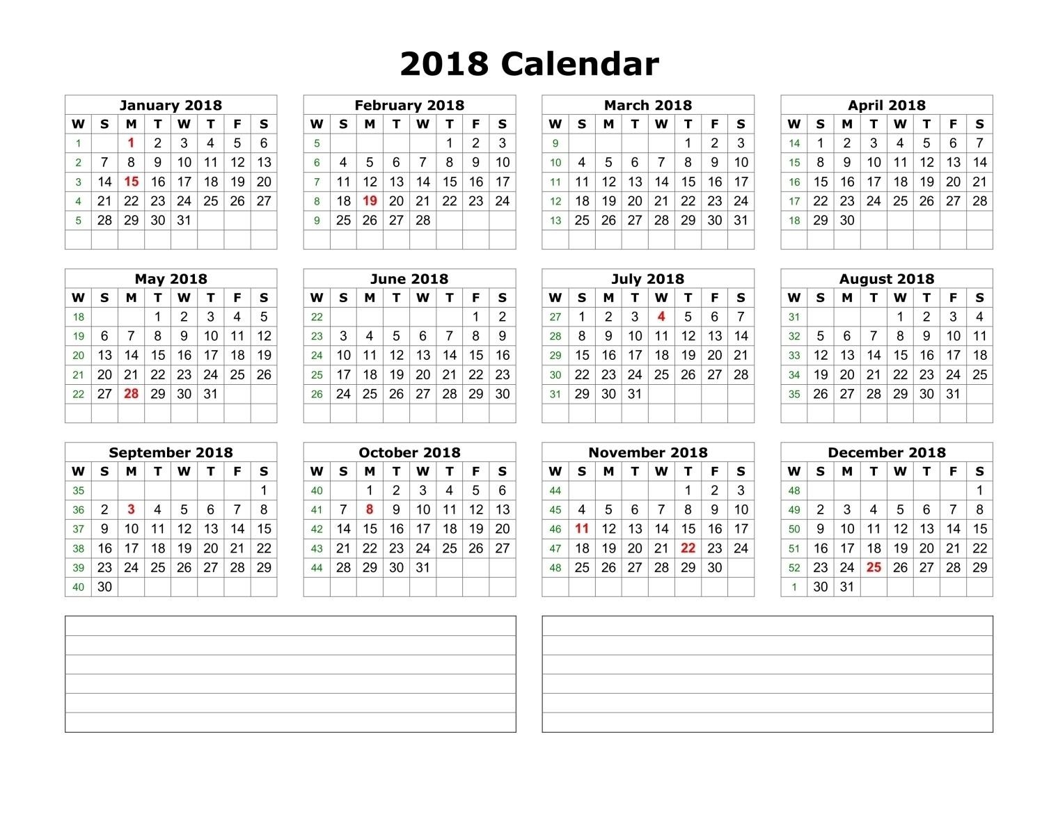 free printable calendar 2018 template printable calendar templates