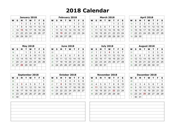 Free printable calendar 2018 template printable calendar templates blank calendar 2018 publicscrutiny Images