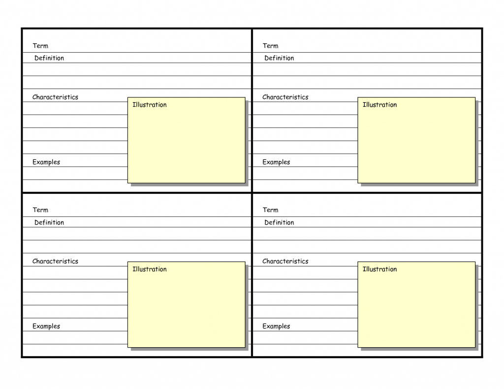 Printable Blank Flash Cards Template