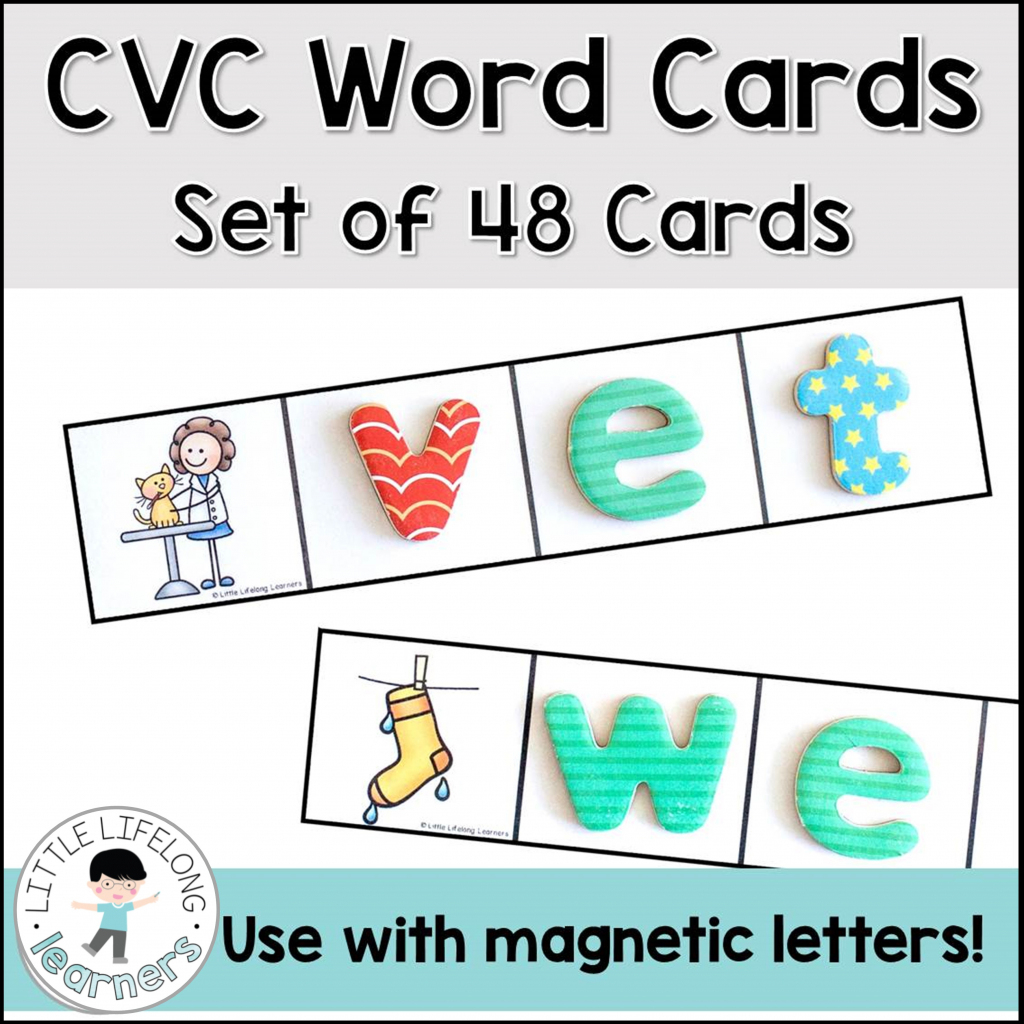 Cvc Words Flashcards Worksheet