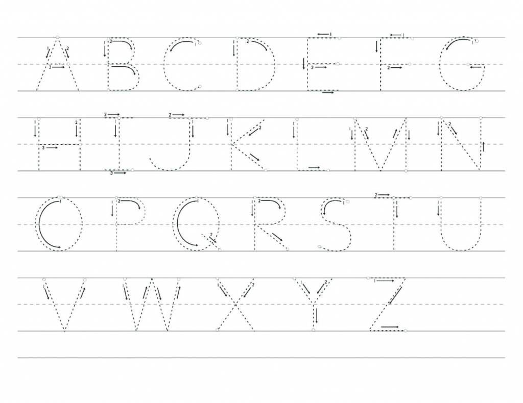 Printable Alphabet Tracing Cards