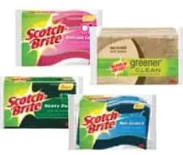 Scotch Brite scrub sponge 3-pack