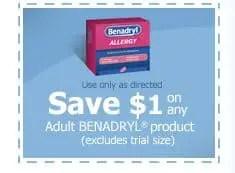 Benadryl adult product
