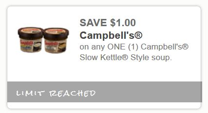 Campbell's slow Kettle style soup July