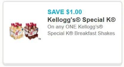 Special K breakfast shakes
