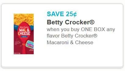 Betty crocker Mac and cheese