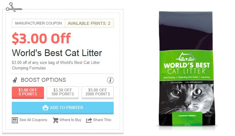 World S Best Cat Litter Printabe Coupon New Coupons And Deals Printable Coupons And Deals