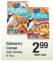 Kroger barbs cereal