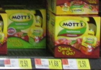 Motts snack and go wal