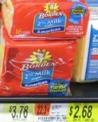borden cheese slices $2.68