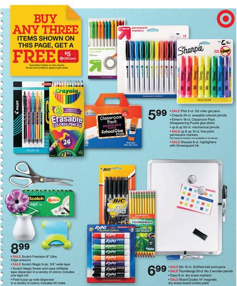 Target Buy Any Three Various Pilot G2 Crayola Elmer S