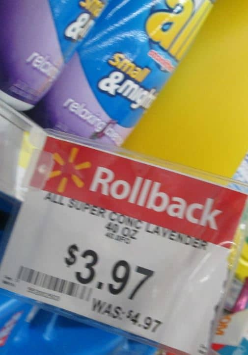 all small and mighty rollback walmart