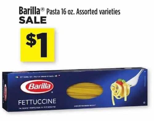 Barilla Pasta Dollar General
