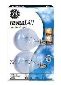 ge reveal light bulb 2-pack