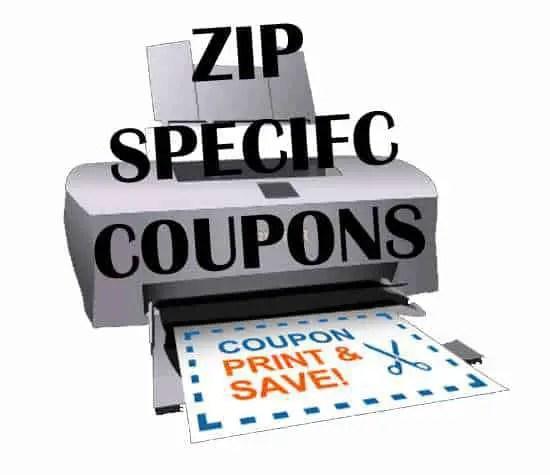 zipcode coupons