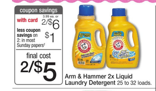 Arm&Hammer Laundry Printable Coupon