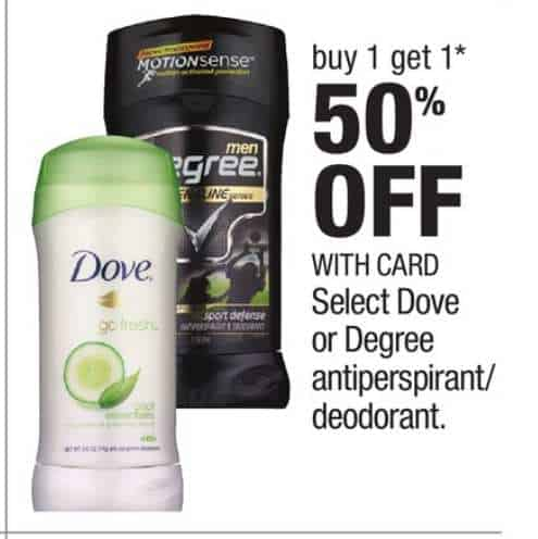 Axe Degree Men, or Dove Men Products Printable Coupon