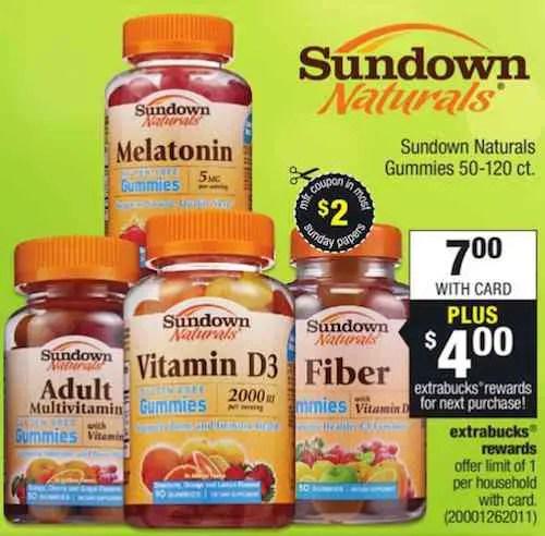 Sundown Vitamins Printable Coupon